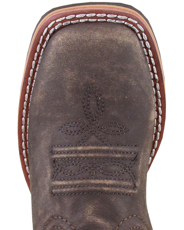 Smoky Mountain Youth Boys' Leroy Western Boots - Wide Square Toe, Chocolate, hi-res