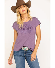 Ariat Women's Purple Tribe Tee, Purple, hi-res