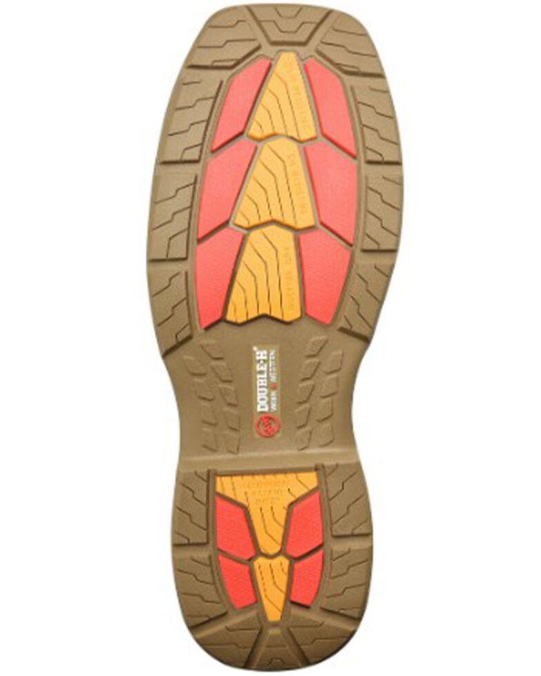 Double H Men's Zenon Waterproof Western Work Boots - Composite Toe, Black/brown, hi-res