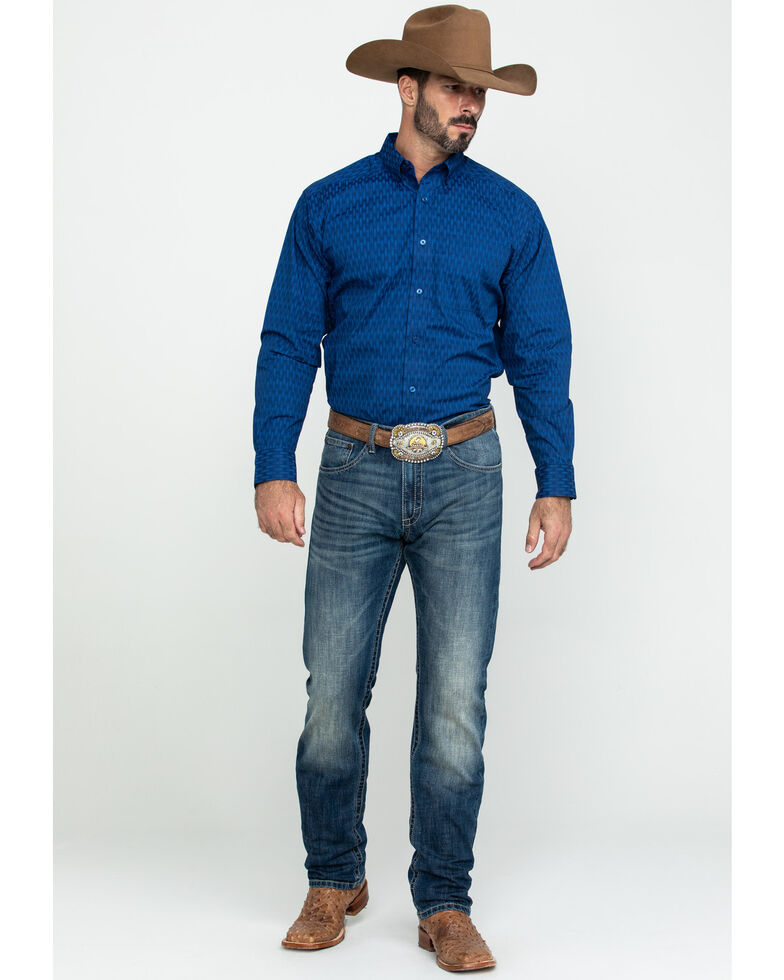 Ariat Men's Groton Multi Print Long Sleeve Western Shirt , Multi, hi-res