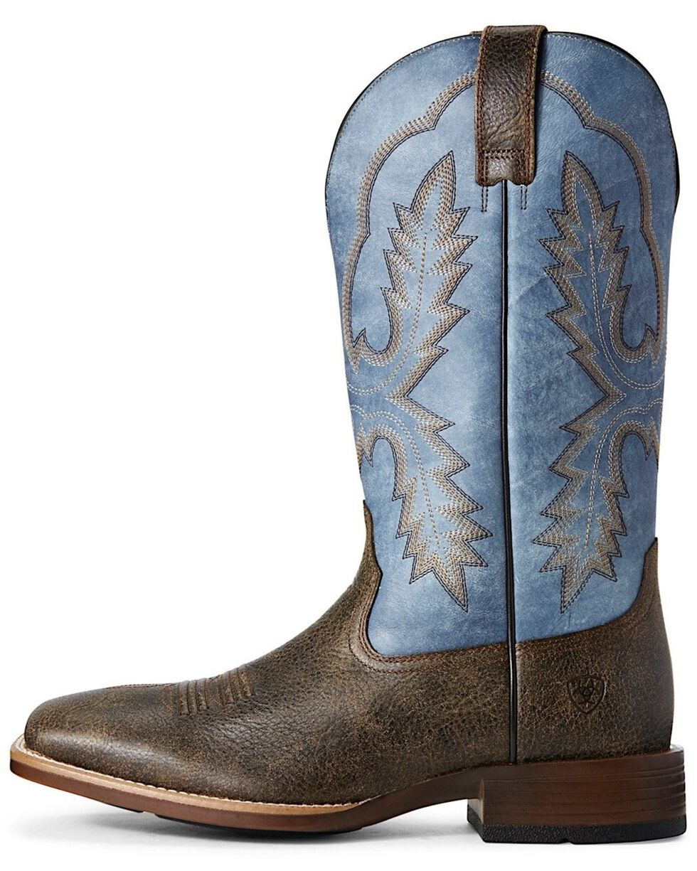 Ariat Men's Pecos Brooklyn Western Boots - Wide Square Toe, Brown, hi-res