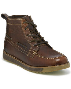 Justin Men's Solace Sun Oak Boots - Moc Toe, Brown, hi-res