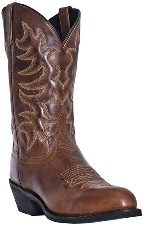 Laredo Men's Pinehurst Cowboy Boots - Medium Toe, Brown, hi-res