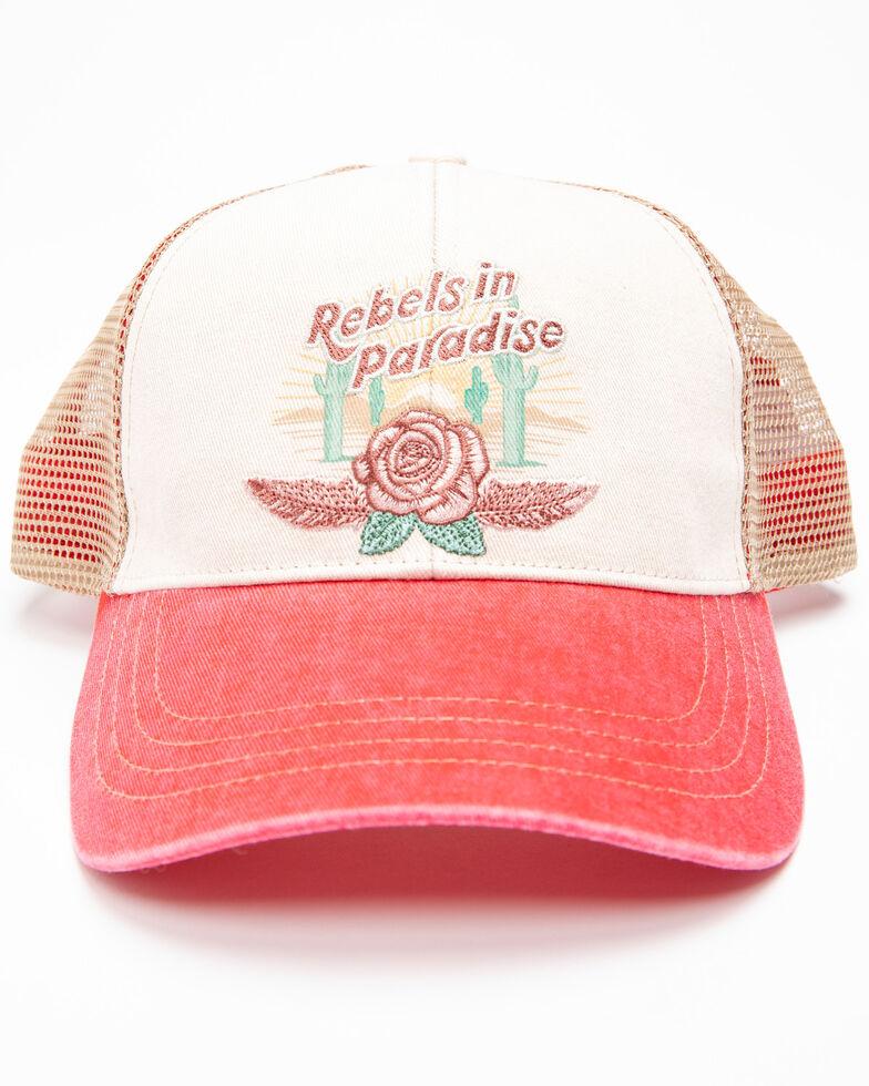 Shyanne Women's Rebels In Paradise Mesh Cap , Red, hi-res