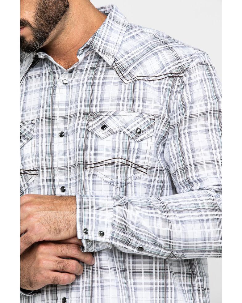 Cody James Men's Ghost Rider Plaid Long Sleeve Western Shirt - Big & Tall , Grey, hi-res