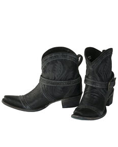 Lane Women's Black Ballyhoo Fashion Booties - Snip Toe, Black, hi-res