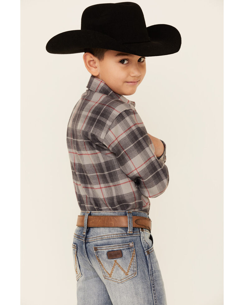 Wrangler Retro Toddler Boys' Kingston Stretch Relaxed Bootcut Jeans , Blue, hi-res
