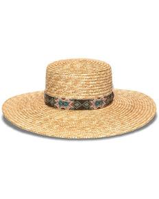 Nikki Beach Women's Bossa Milan Fedora Straw Hat , Natural, hi-res