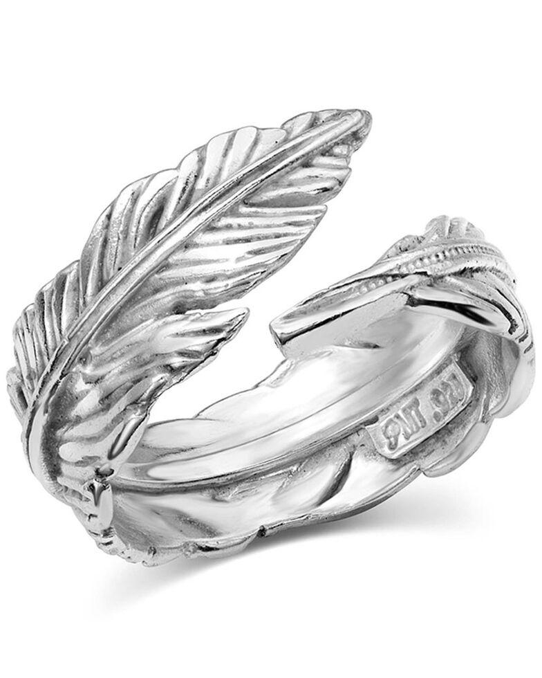 Montana Silversmiths Women's Joyful Feather Ring - Size 10, Silver, hi-res
