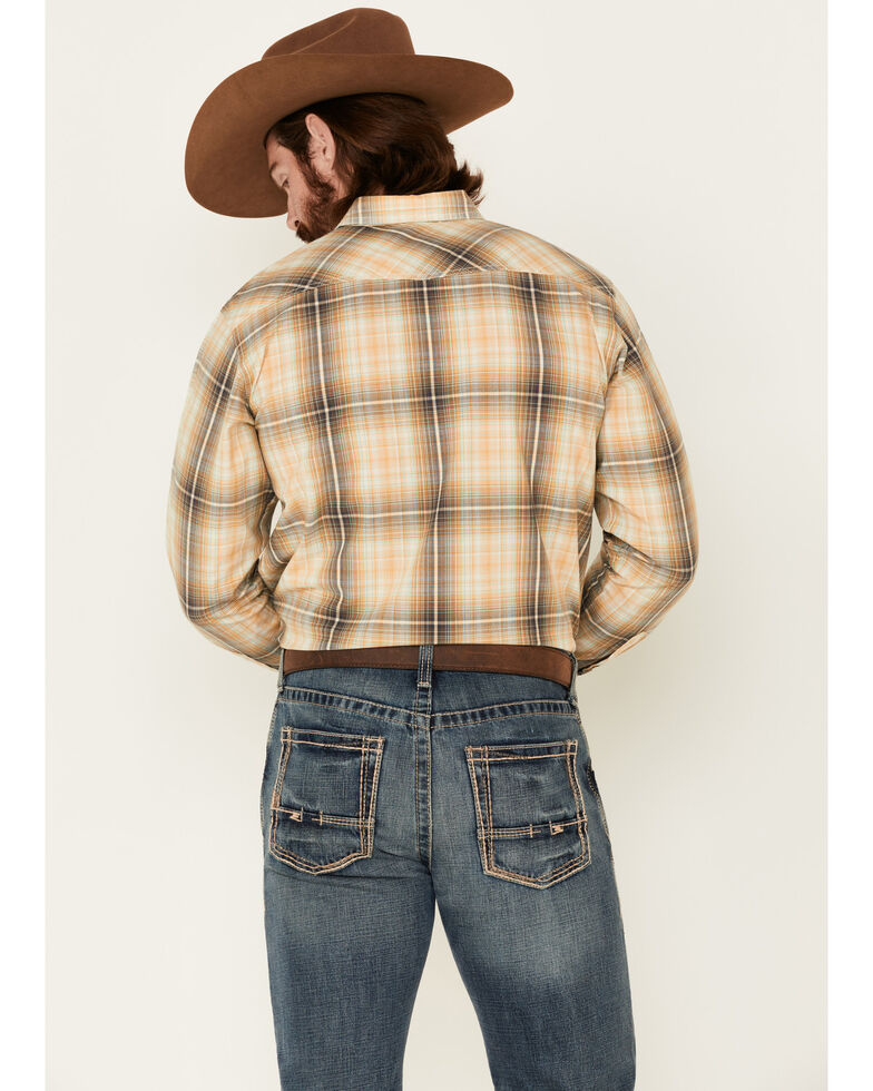 Ariat Men's Austin Retro Large Plaid Long Sleeve Western Shirt , Green, hi-res