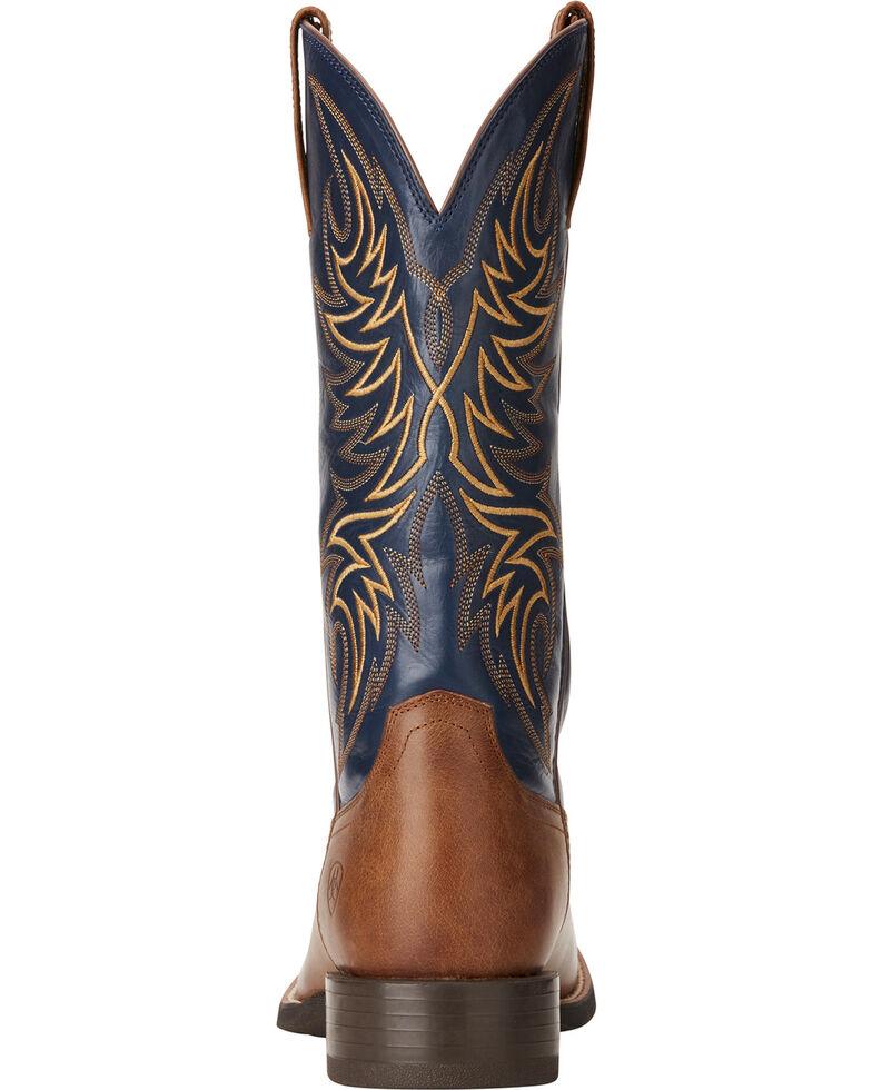 b0095c1bb08 Ariat Men's Sport Horseman Tan/Blue Cowboy Boots - Round Toe