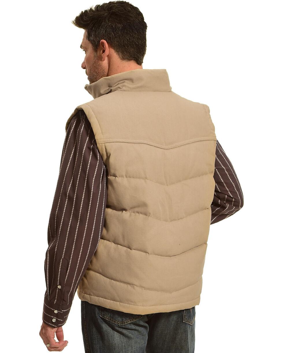 Resistol Men's Cowboy Canvas Vest , Tan, hi-res