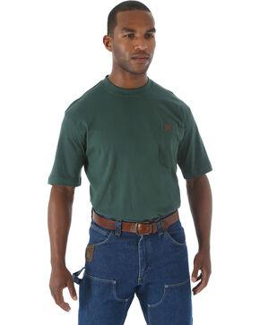 Wrangler Men's Riggs Short Sleeve Pocket T-Shirt - Big & Tall, Forest Green, hi-res