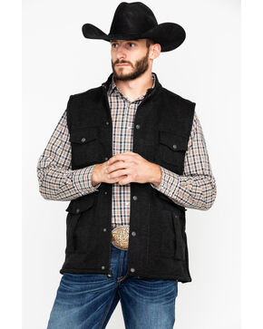 Outback Trading Co. Men's Reid Softshell Vest , Black, hi-res