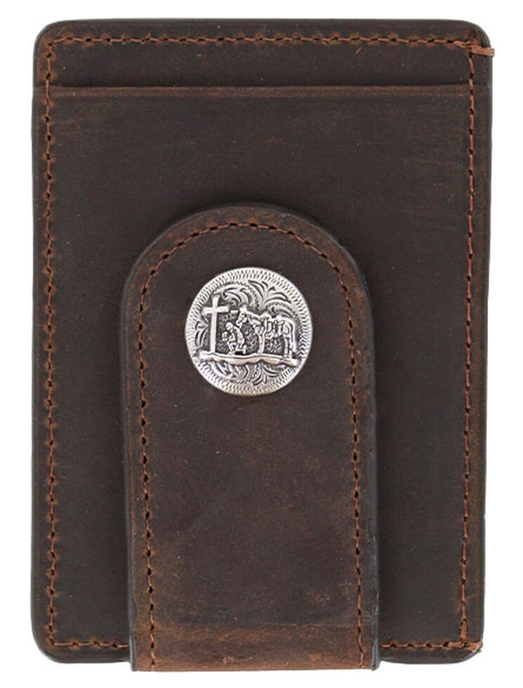 Cody James Men's Praying Cowboy Money Clip, Brown, hi-res