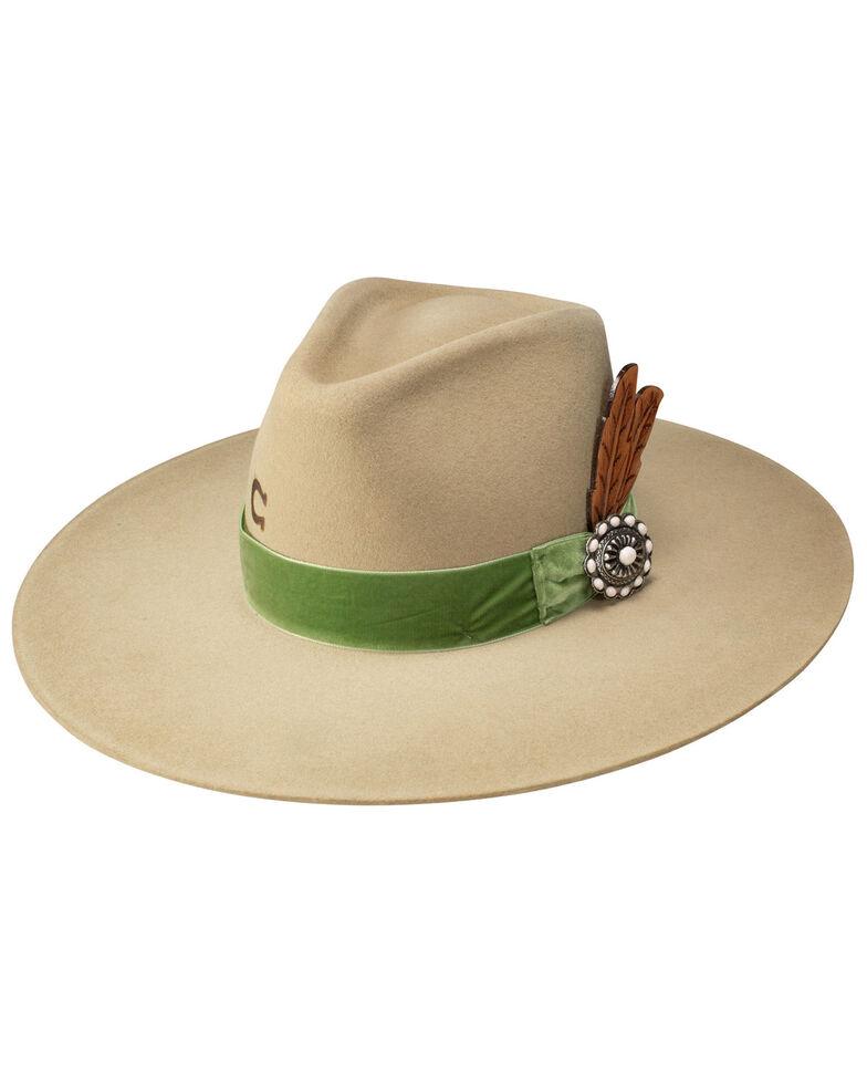 Charlie 1 Horse Women's Hippie Wool Felt Western Hat , No Color, hi-res