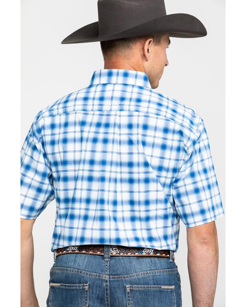 Ariat Men's Obarra Stretch Plaid Short Sleeve Western Shirt , Multi, hi-res