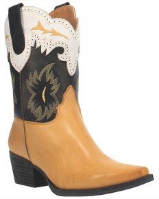 Dingo Women's Tatiana Western Boots - Snip Toe, Yellow, hi-res