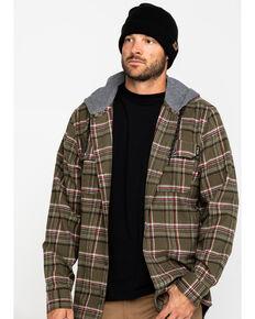 Hawx Men's Olive Mission Plaid Hooded Long Sleeve Work Shirt Jacket, Olive, hi-res