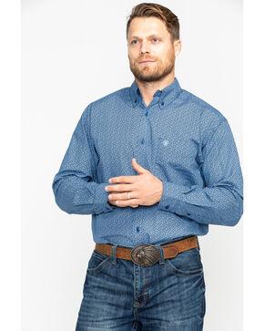 Ariat Men's Dullins Floral Print Long Sleeve Western Shirt - Big & Tall , Navy, hi-res