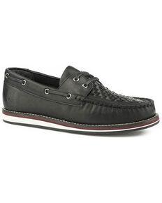 Roper Women's Black Burnished Slip-On Shoes - Moc Toe, Black, hi-res