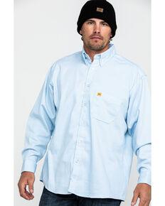 Wrangler 20X Men's FR Small Striped Long Sleeve Work Shirt, Blue, hi-res