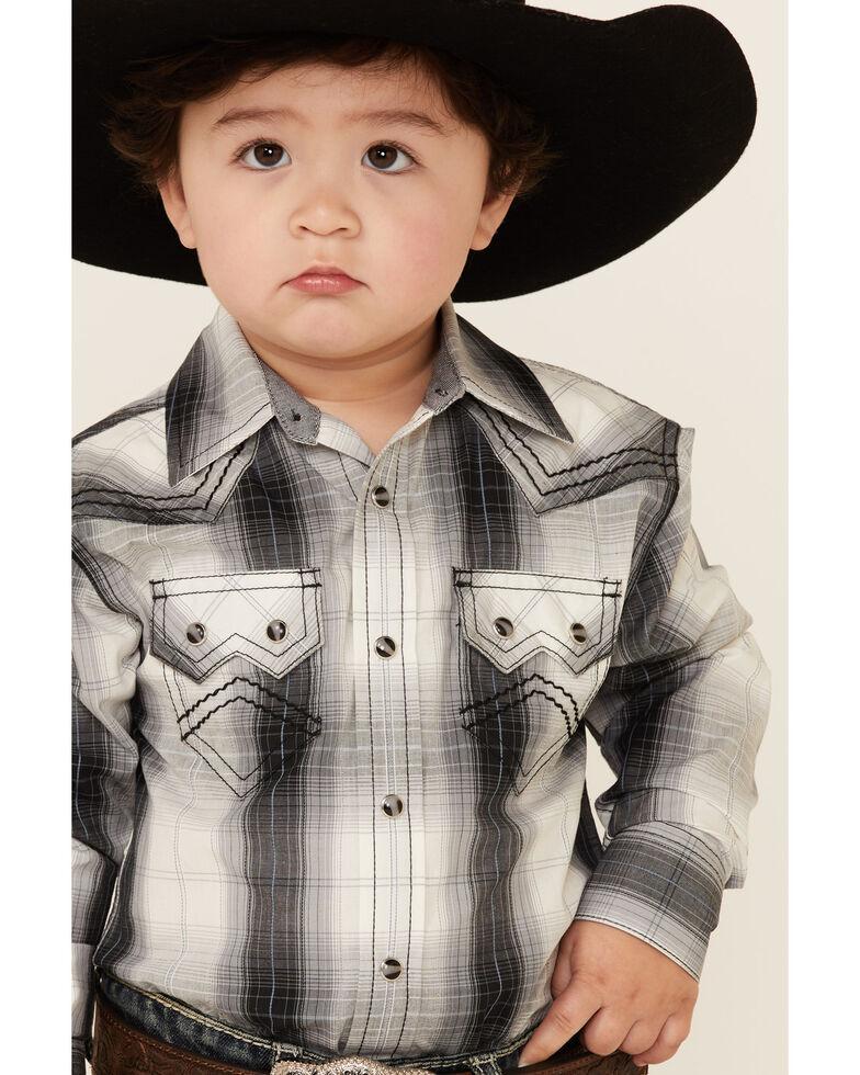 Cody James Toddler Boys' Reel Large Plaid Long Sleeve Snap Western Shirt , White, hi-res