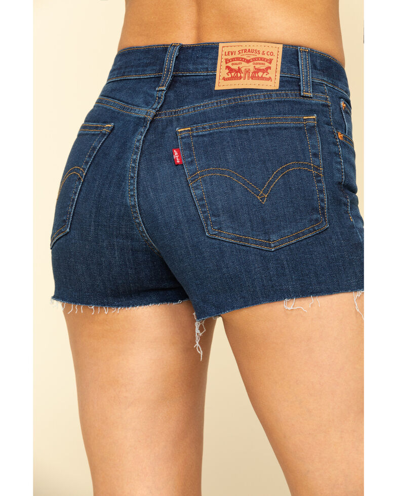 Levi's Women's High-Waisted Shorts, Blue, hi-res