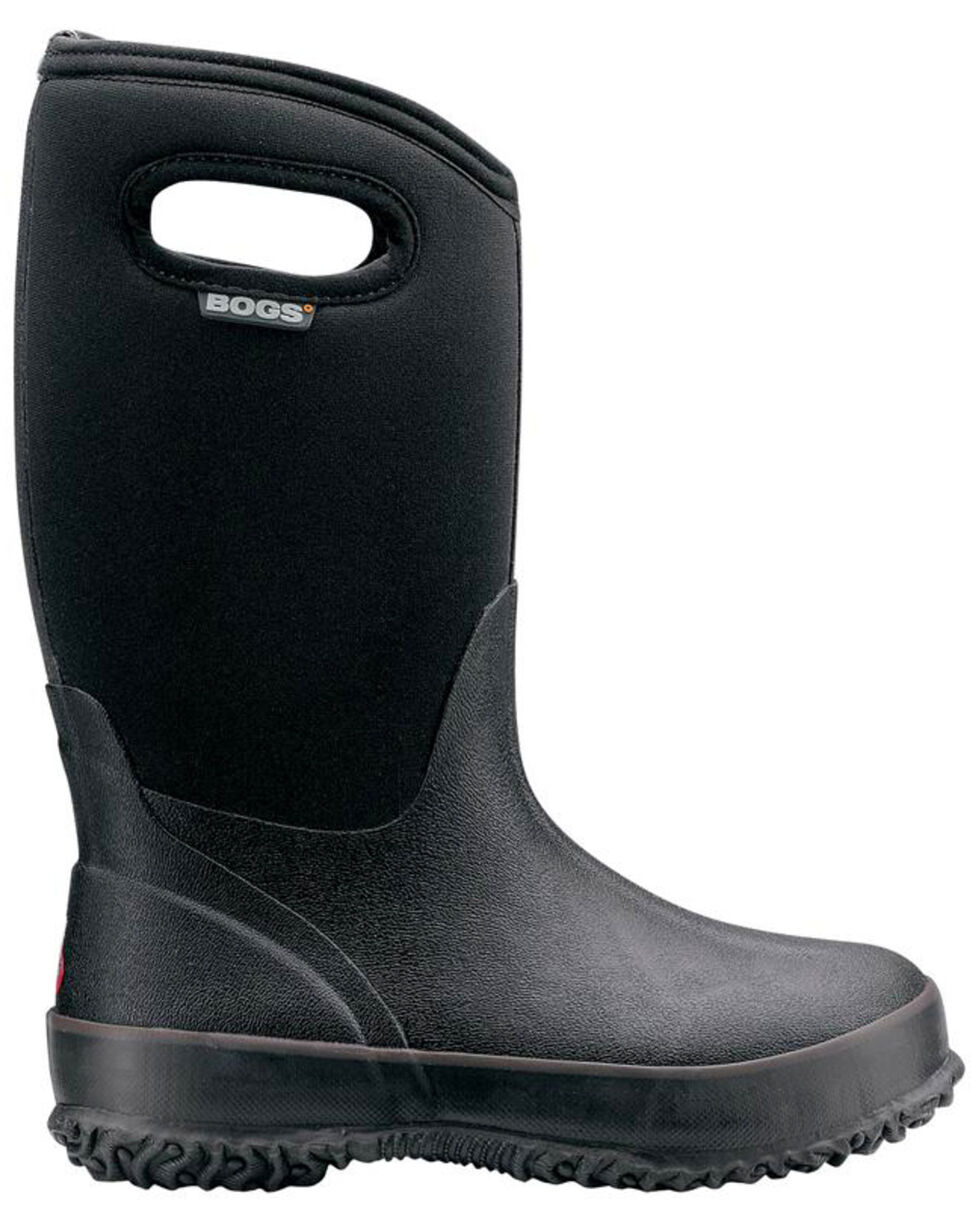 Bogs Boys' Classic Insulated Boots - Round Toe, Black, hi-res