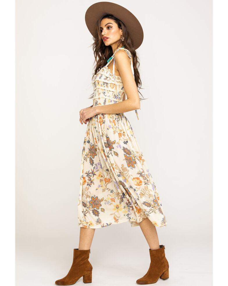 Free People Women's Isla Midi Dress, Ivory, hi-res