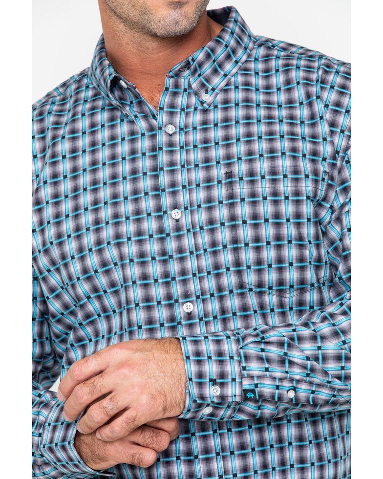 Cody James Core Men's Buckshot Plaid Button Long Sleeve Shirt , Grey, hi-res