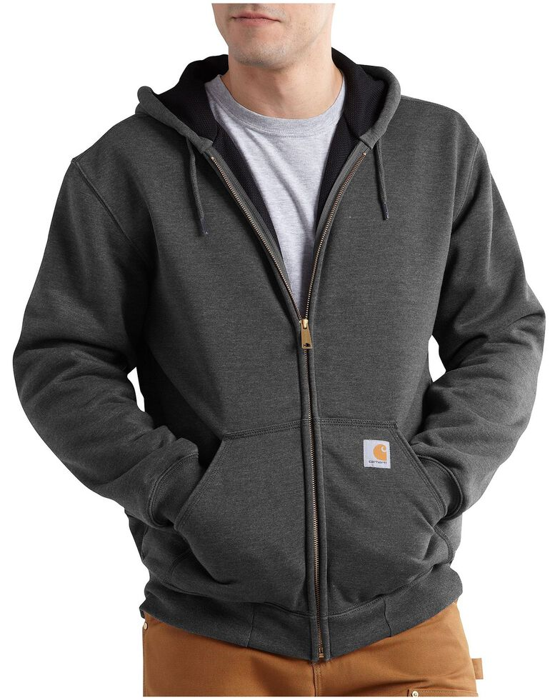 Carhartt Men's Thermal Lined Hooded Zip Jacket - Big & Tall, Grey, hi-res