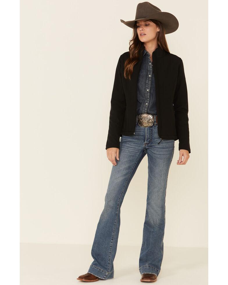 Roper Women's Black Soft Shell Bonded Fleece Lined Jacket , Black, hi-res
