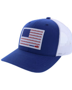 HOOey Men's Liberty Roper Flag Patch Cap , Blue, hi-res