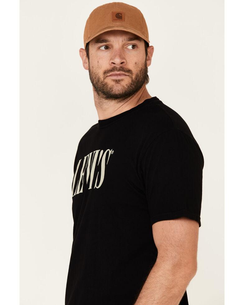 Levi's Men's Black Serif Logo Graphic T-Shirt , Black, hi-res