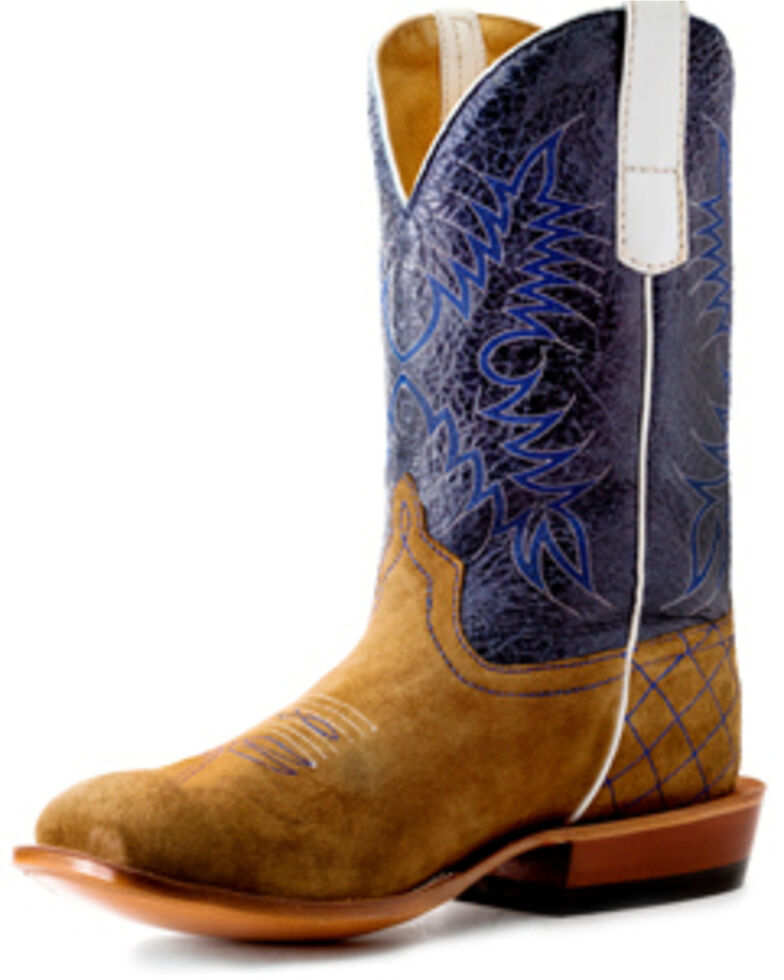 HorsePower Boys' Sahara Sand Western Boots - Square Toe, Sand, hi-res