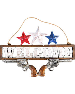 BB Ranch Americana Welcome Wall Sign, No Color, hi-res