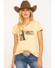 Ariat Women's R.E.A.L. Country Scene Tee, Peach, hi-res