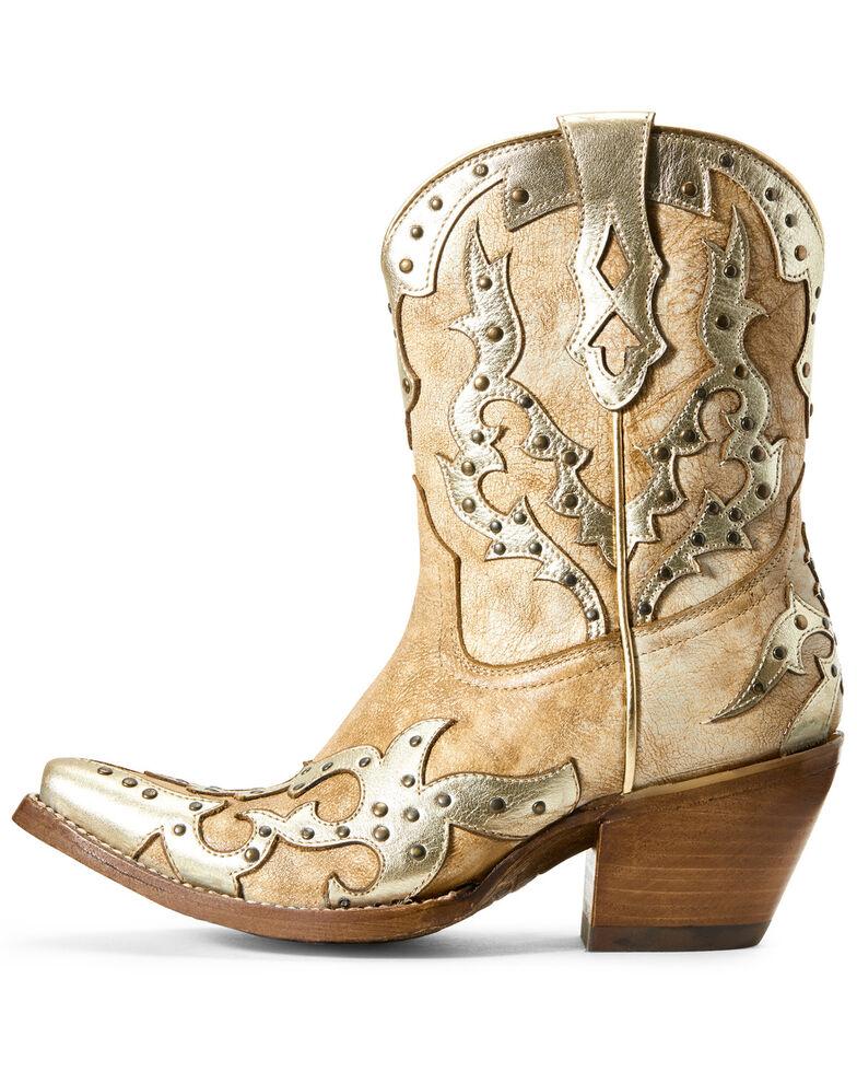 Ariat Women's Sapphire Warm Stone Western Boots - Snip Toe, Beige/khaki, hi-res