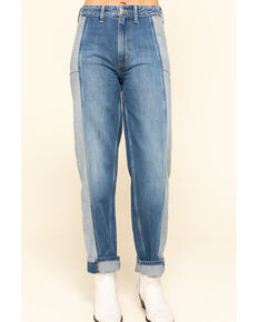 Lee Women's High Rise Seamed Relaxed Stovepipe Jeans , Blue, hi-res