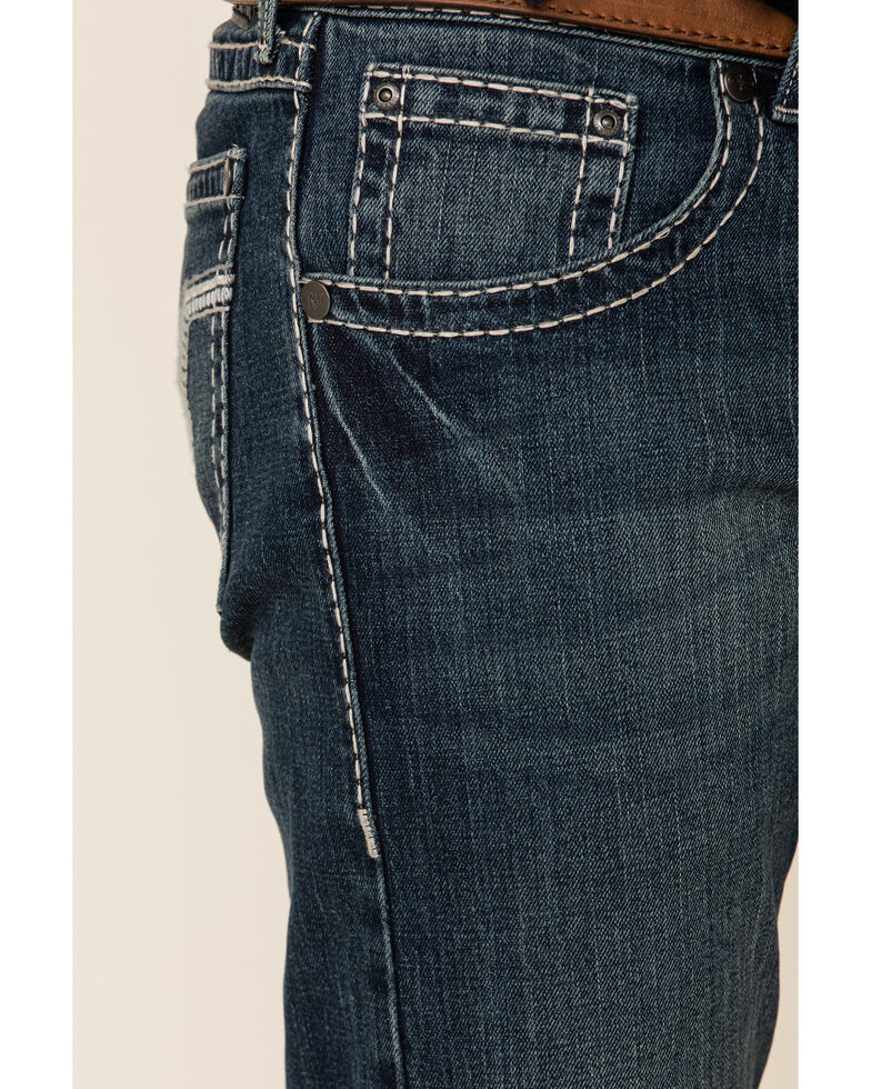 Rock 47 By Wrangler Men's Pace Bend Stretch Slim Straight Jeans , Blue, hi-res