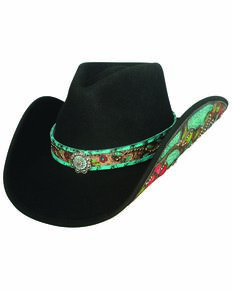 Bullhide Women's Crazy Beautiful Cowgirl Hat, Black, hi-res