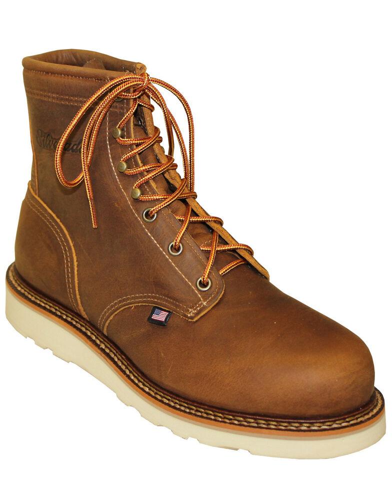 Silverado Men's American Tanned Work Boots - Steel Toe, Tan, hi-res
