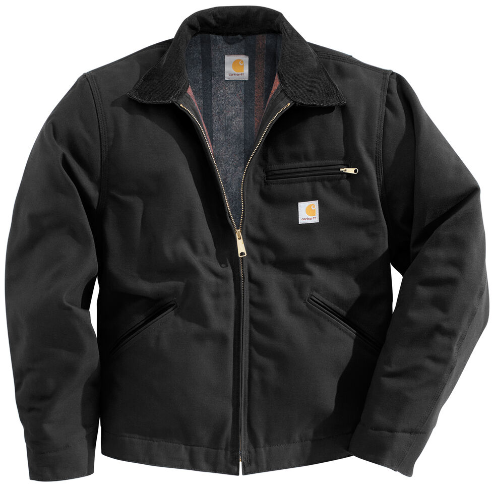 Carhartt Men s Duck Detroit Blanket Lined Canvas Jacket - Country ... 9f71da2ac9