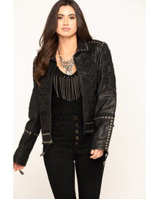 Double D Ranch Women's Tasajulillo Jacket , Black, hi-res