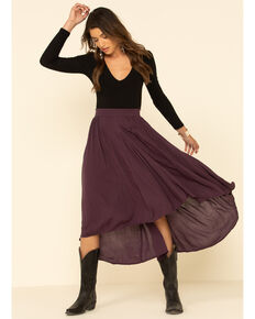 Shyanne Women's Hi-Low Maxi Skirt, Grape, hi-res