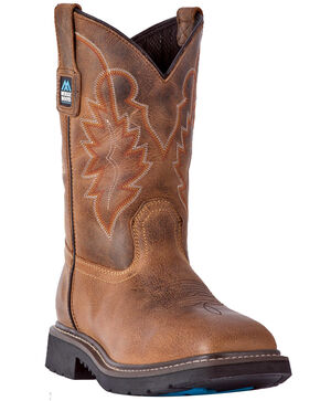 McRae Men's Wellington Western Work Boots - Composite Toe, Brown, hi-res