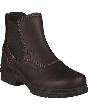 Ariat Waterproof Twin Gore Work Boots - Round Toe, Dark Brown, hi-res