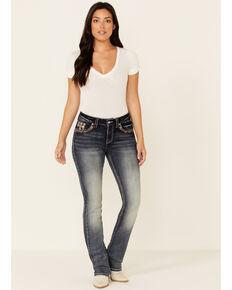 Grace in LA Women's Studded Cross Bootcut Jeans, Blue, hi-res