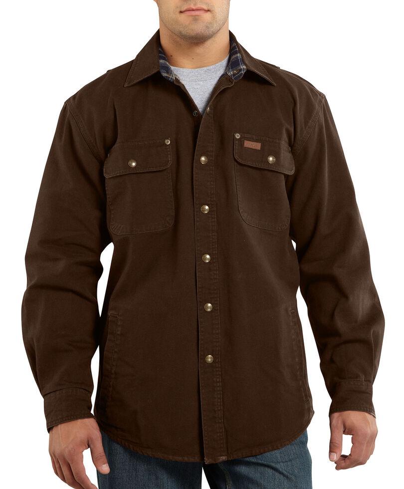 Carhartt Canvas Work Shirt Jacket - Big & Tall, Dark Brown, hi-res